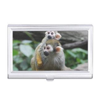 Cute Squirrel Monkey Business Card Case