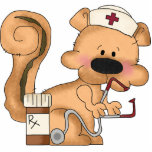 "Cute Squirrel Nurse Sculpture<br><div class=""desc"">design by Cheryl Seslar at www.digiwebstudio.com</div>"