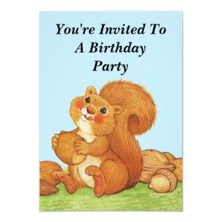 Cute Squirrel Nuts Kids Birthday Card