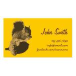Cute Squirrel & Oak Nut Creative Profile Card Business Card Templates