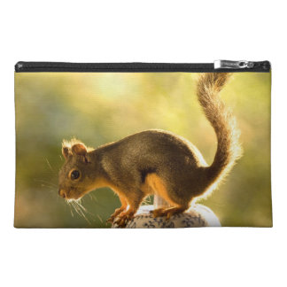 Cute Squirrel on a Cookie Jar Travel Accessory Bag