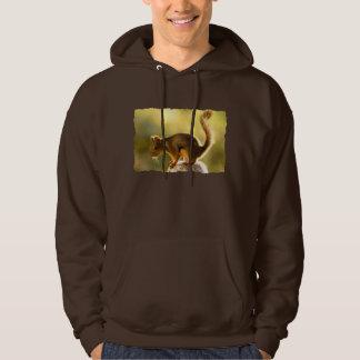 Cute Squirrel on a Cookie Jar Hooded Sweatshirt