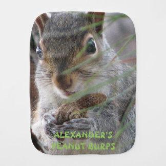 Cute Squirrel Personalized Fun Peanut Burps Cloth Baby Burp Cloths