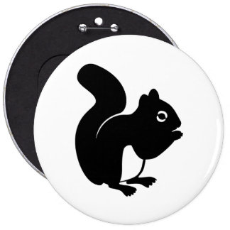 Cute Squirrel Pinback Button