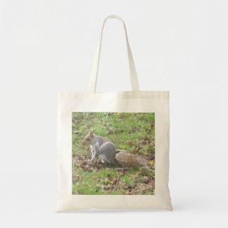 Cute Squirrel Scratching Tote Bag