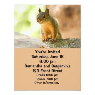 Cute Squirrel Smiling 4.25x5.5 Paper Invitation Card