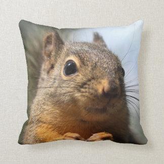 Cute Squirrel Smiling Closeup Photo Throw Pillow