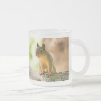 Cute Squirrel Smiling 10 Oz Frosted Glass Coffee Mug