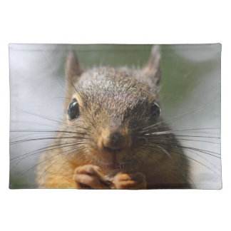 Cute Squirrel Smiling Photo Cloth Placemat