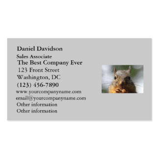 Cute Squirrel Smiling Photo Double-Sided Standard Business Cards (Pack Of 100)