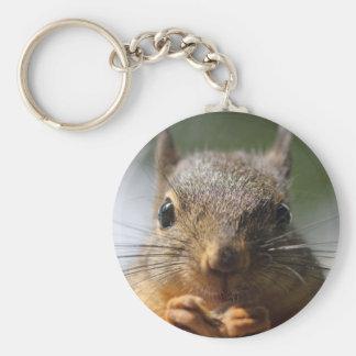 Cute Squirrel Smiling Photo Keychain