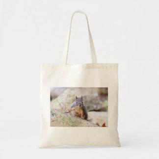 Cute Squirrel Staring Tote Bag