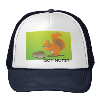 Cute squirrel with nuts trucker hat