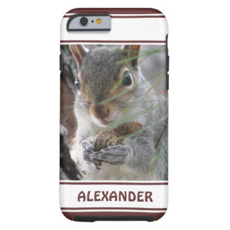 Cute Squirrel With Peanut Woodland Nature Rodent Tough iPhone 6 Case