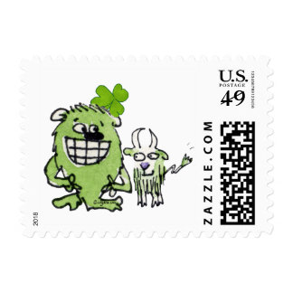 Cute St. Paddys Day Postage Stamps