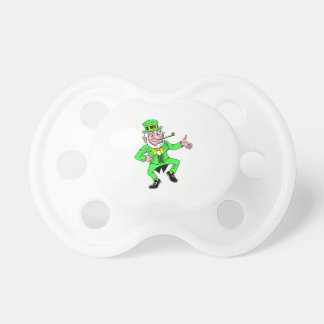 Cute St Patrick s Day Dancing Leprechaun Baby Pacifiers