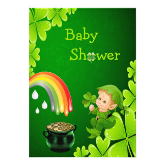 Cute St. Patrick's Day Baby Shower Invites