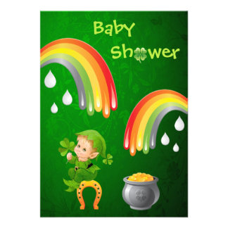 Cute St. Patrick's Day Baby Shower Custom Invites