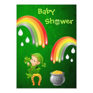 Cute St. Patrick's Day Baby Shower Custom Invites