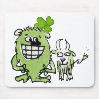 Cute St Patricks Day Cartoon Creatures Mousepad