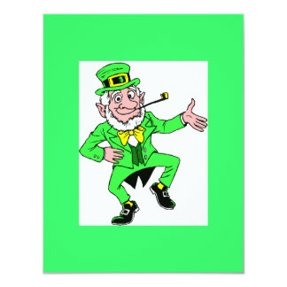 Cute St. Patrick's Day Dancing Leprechaun Card