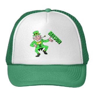 Cute St. Patrick's Day Dancing Leprechaun Trucker Hat