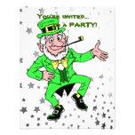 Cute St. Patrick's Day Dancing Leprechaun Custom Invite