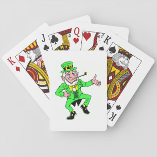 Cute St. Patrick's Day Dancing Leprechaun Playing Cards