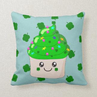 Cute St Patricks Day Green Cupcake Cushion