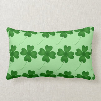 Cute St. Patrick's Day lucky shamrocks Lumbar Pillow