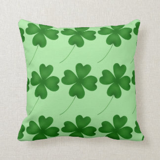 Cute St. Patrick's Day lucky shamrocks Pillow