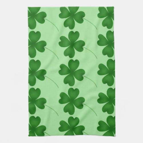 Cute St. Patrick's Day lucky shamrocks Towel