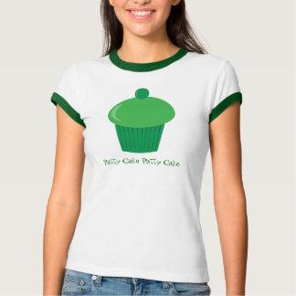 Cute St. Patrick's Day Patty Cake Green Cupcake T-Shirt