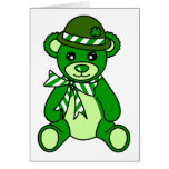 Cute St. Patrick's Day Teddy Bear Greeting Card