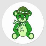Cute St. Patrick's Day Teddy Bear Stickers