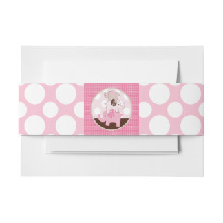 Cute Stacked Elephants with Polka Dots Belly Band