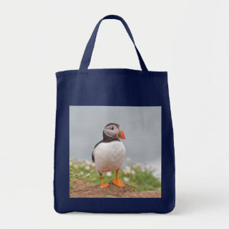 Cute Standing Puffin Tote Bag