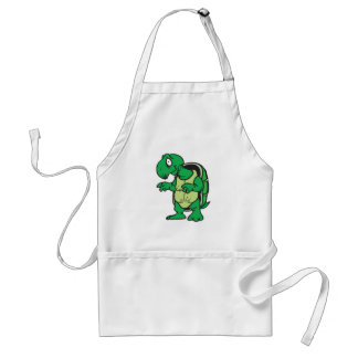 cute standing turtle adult apron