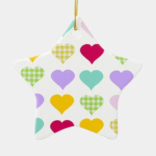 Cute star and hearts ornament decoration