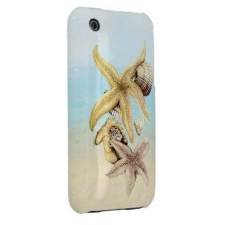 Cute Star Fish Seashells Summer Beach Theme Case-Mate iPhone 3 Cases