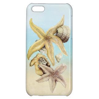 Cute Star Fish & Seashells Summer Beach Theme iPhone 5C Cases