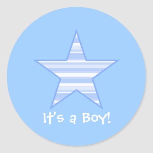 Cute Star, It's a Boy Sticker