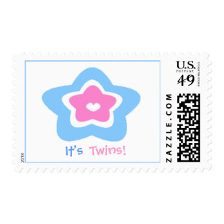 cute star, It's , Twins! Postage