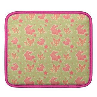 Cute Star Kitty and Bunny Pattern Rickshaw Sleeve Sleeves For iPads