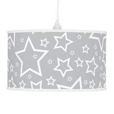 Halloween Themed Cute Star Patterned Pendant Lamp in Silver