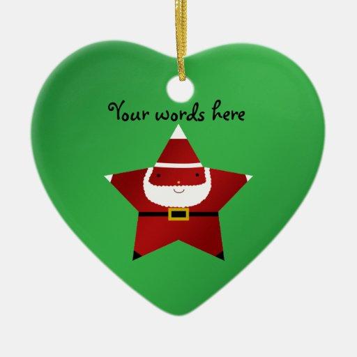 Cute star santa christmas ornament