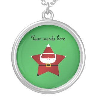 Cute star santa claus custom jewelry