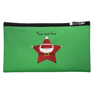 Cute star santa makeup bags