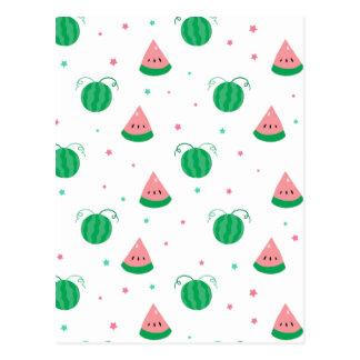 Cute Star Watermelon Pattern Post Cards
