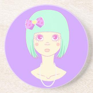 Cute Stare Beverage Coaster
